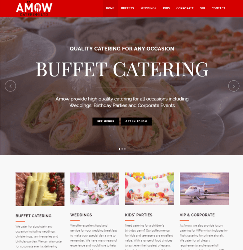 Amow Catering Website