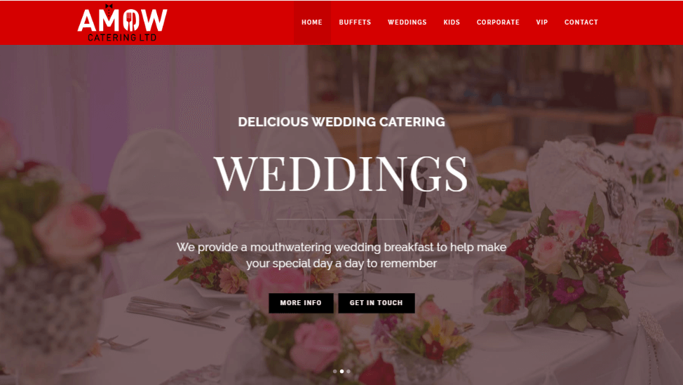 Amow Catering | Website Design Newcastle