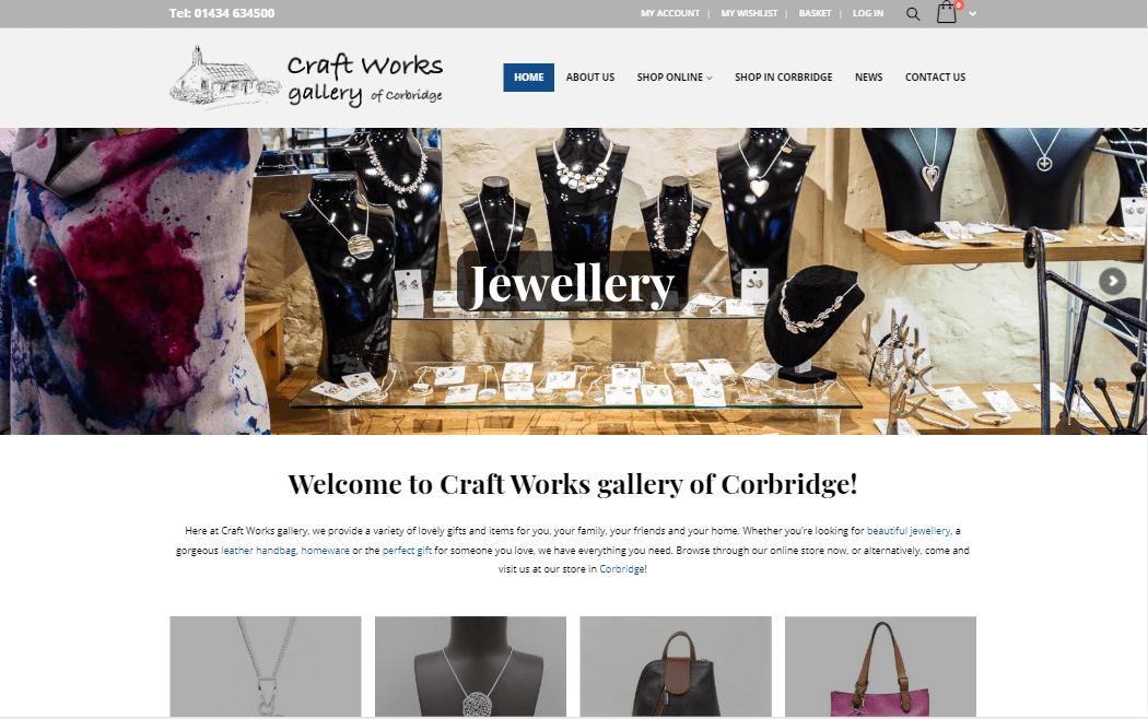 Craft Works gallery of Corbridge