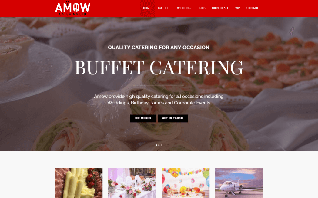 Amow Catering Website | WordPress Development