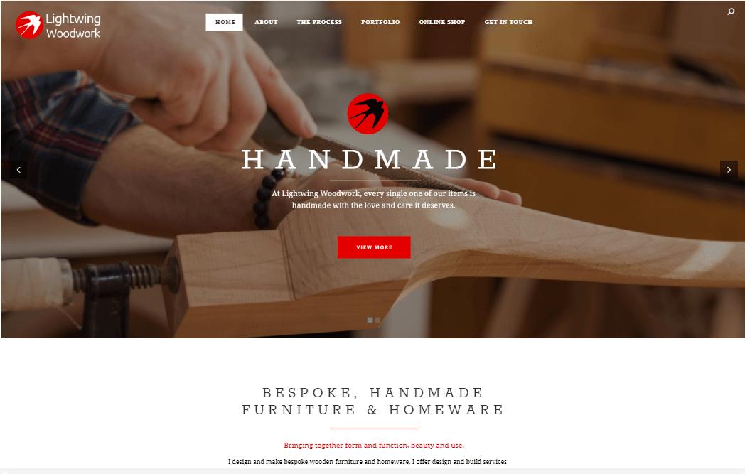 Lightwing Woodwork Website Development
